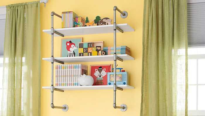 Framed bookshelves
